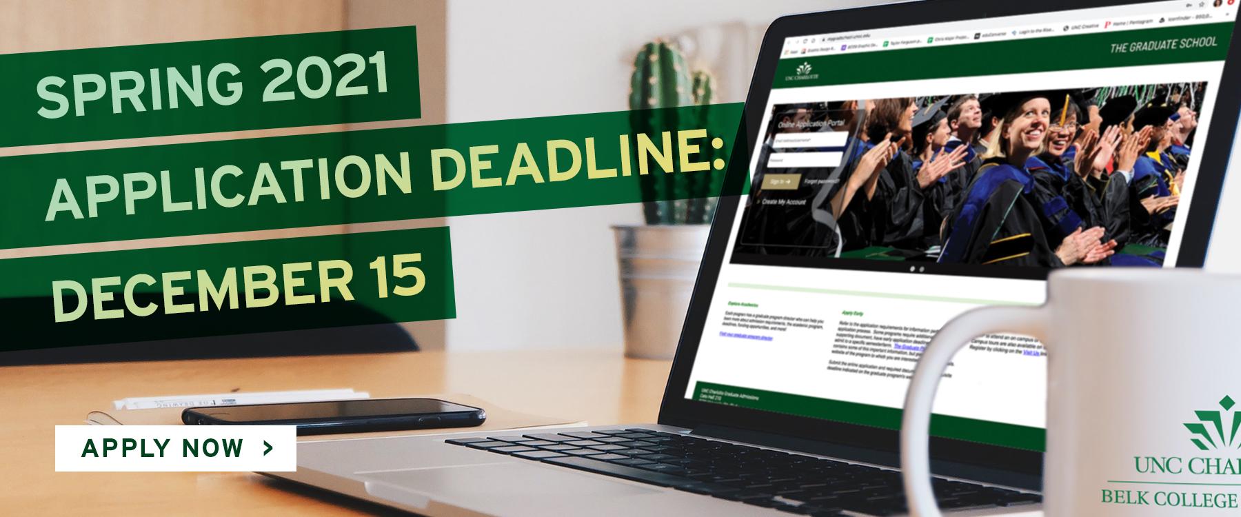 Final Application Deadline Dec. 15